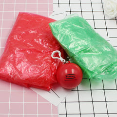 Portable Raincoat In Coloured Hollow Ball