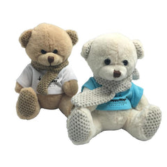 16cm Teddy Bear Plush Toy With Knitted Scarf