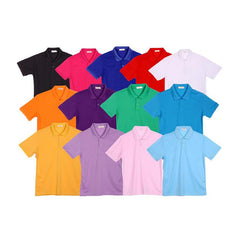 Short-Sleeved Polyester Cotton Polo Shirt