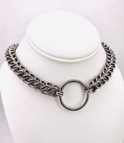 Textured Stainless Steel O-Ring Collar