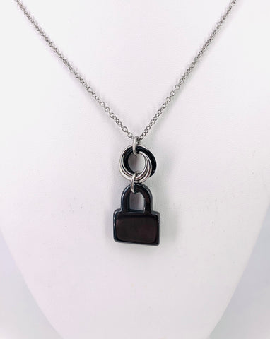 Hemitite Lock Charm Necklace, Day Collar