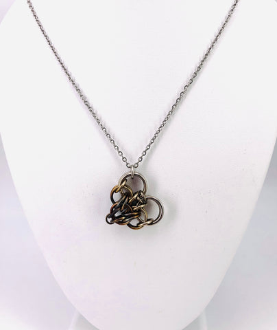 Steel Chainmaille Heart Necklace