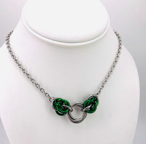 Green Mobius Chainmaille Day Collar
