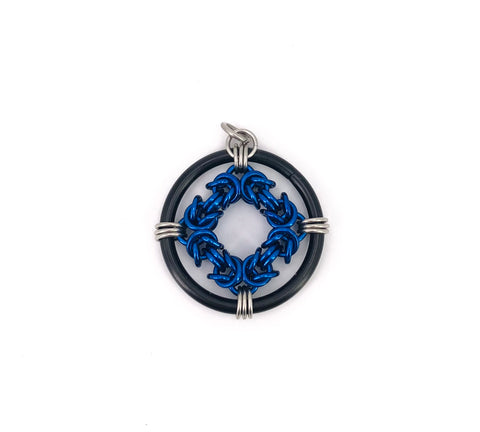 Black and Blue Ring Ornament/Pendant