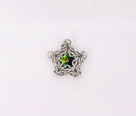 Silver Star with Stone Ornament/Pendant