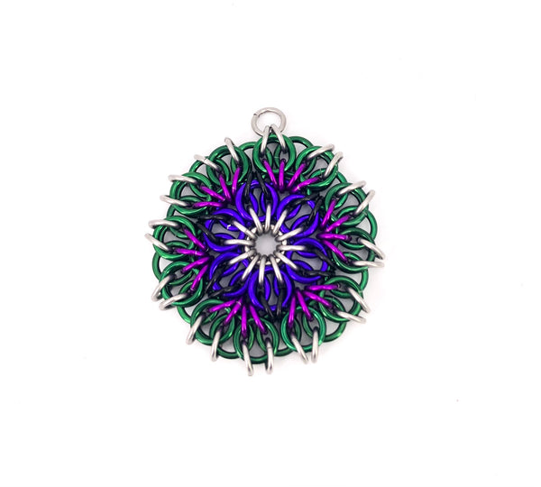 """Stained Glass"" Chainmaille Ornament/Pendant"