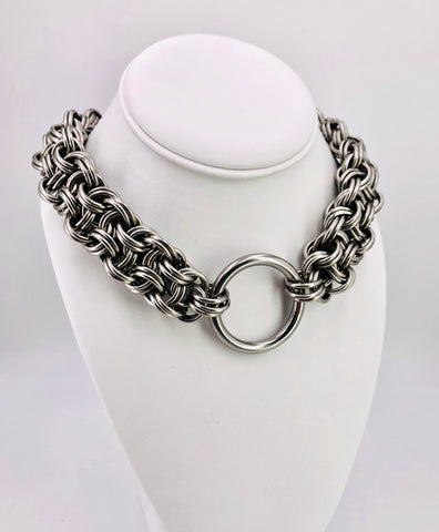 Heavy Statement Stainless Steel Chainmaille BDSM Collar