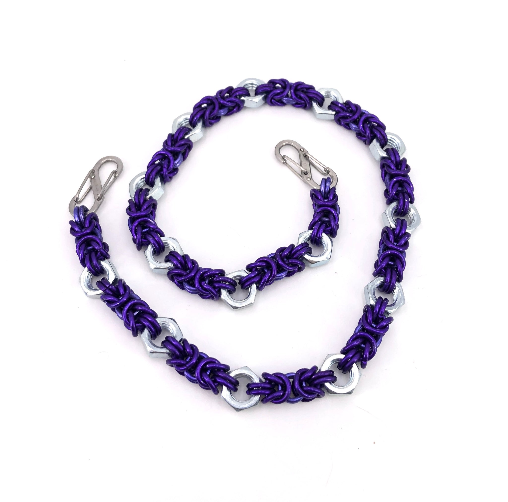 Purple Chainmaille Wallet Chain