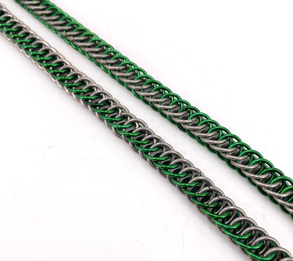 Green Chainmaille Boot Chains