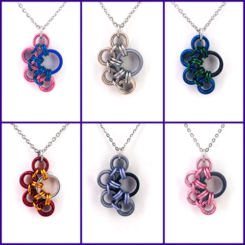 Chainmaille Paw Charm Necklace (Pup Pride)