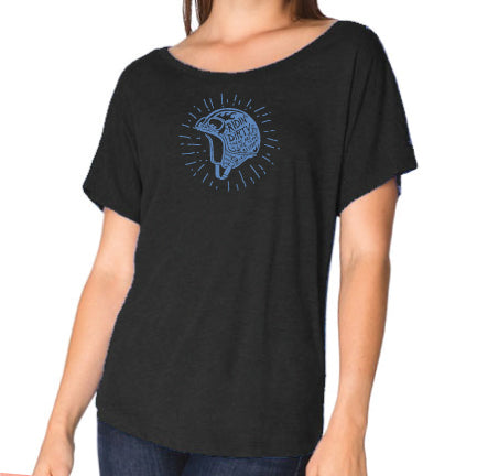 Helmet Lady Tee- Charcoal