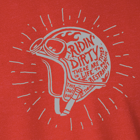 Helmet Tee- Red