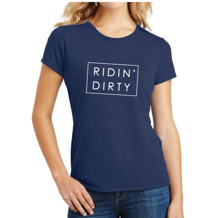 Hutch ladies Ridin' Dirty graphic tee surf western racing tshirt