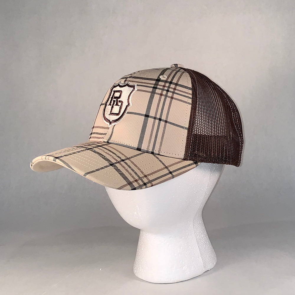 Triton Brown Plaid Hat