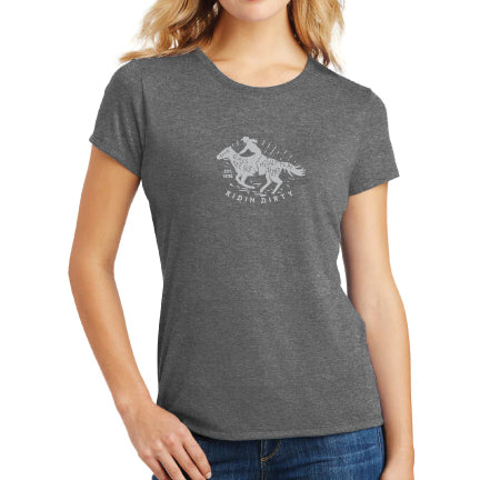 Poshi Lady Tee- Grey