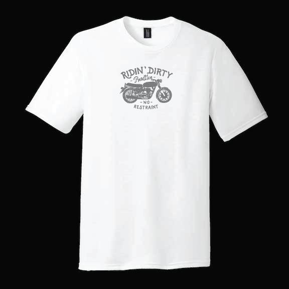 Voyage Ridin' Dirty motorcycle tshirt vintage bike graphic tee red