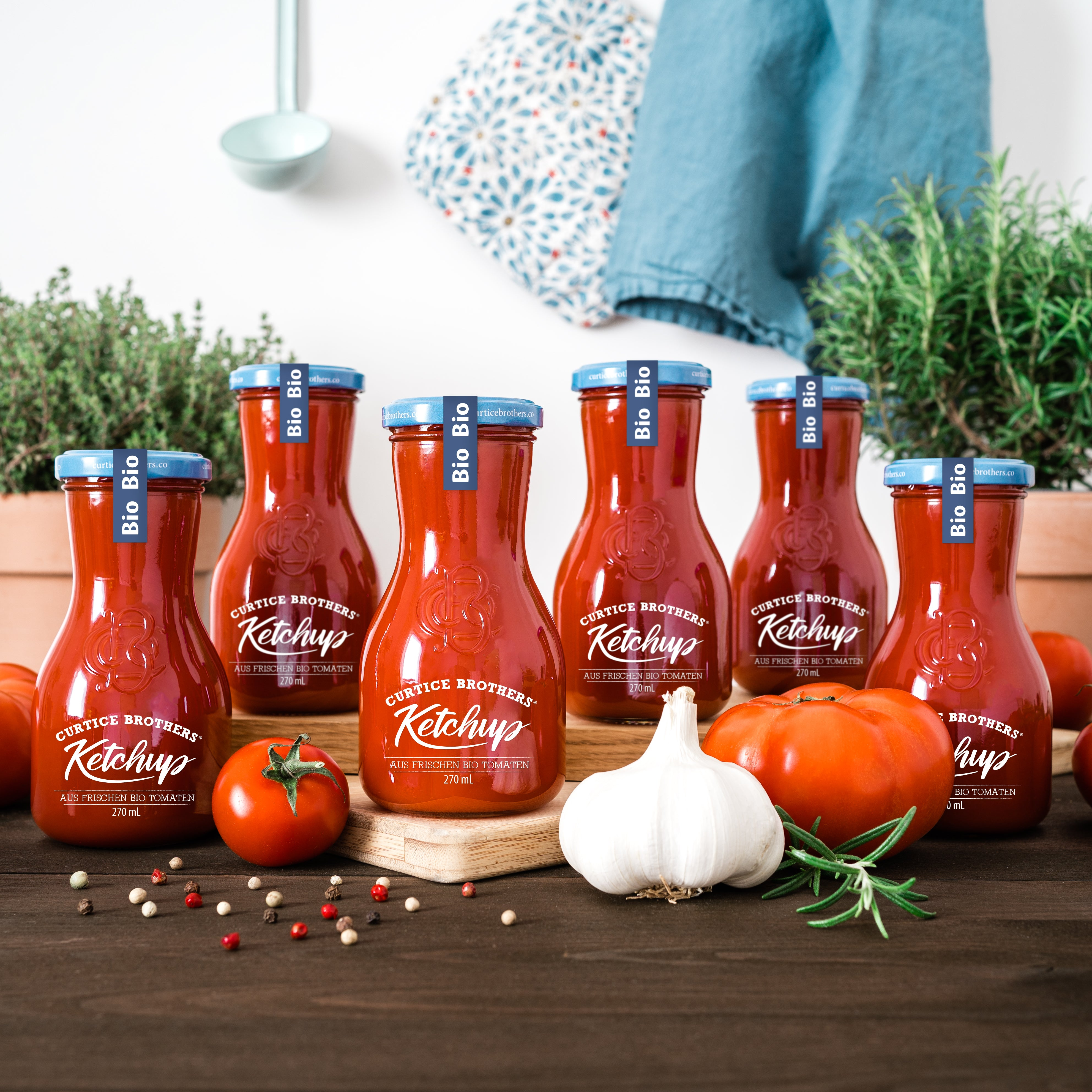 6x 270 mL Curtice Brothers Organic Tomato Ketchup