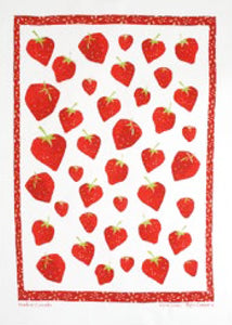 Linen Tea Towel Strawberry