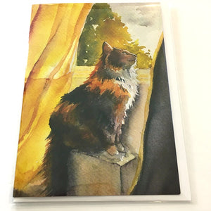 Art Card Tigger by the Window