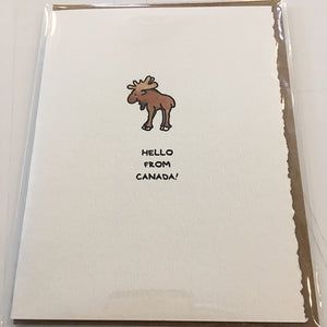 Cute Card Hello From Canada Moose