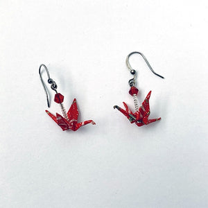 Earrings Origami Crane