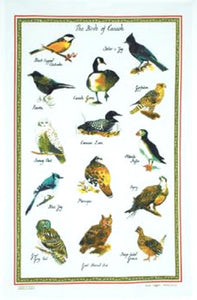 Cotton Tea Towel Birds Of Canada
