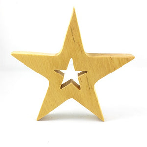 Wood star with star cutout