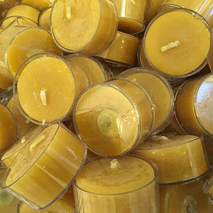 10 X Beeswax T-light