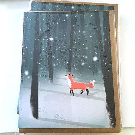 Xmas Art Card First Snowfall