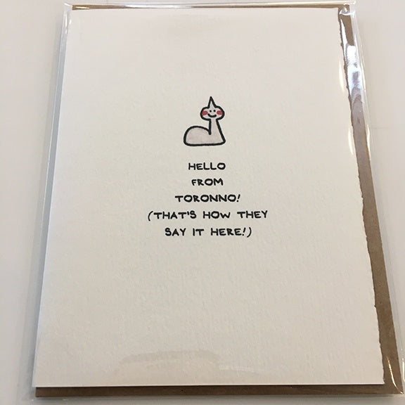 Cute Card Hello From Toronno