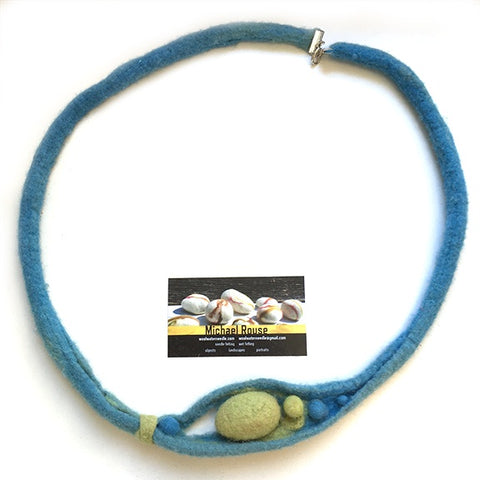 Felted Necklace abstract design