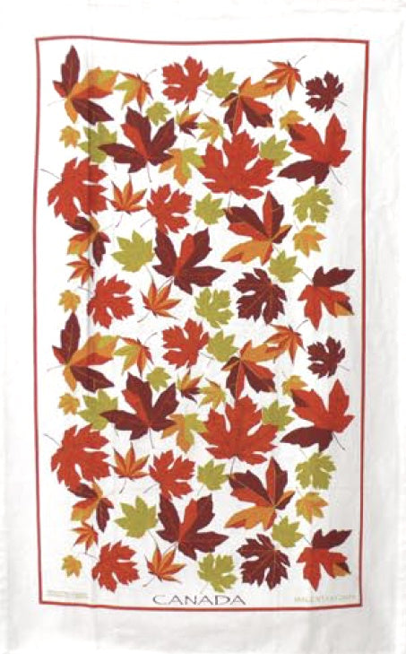 Cotton Tea towel Autumn Maple Leaves