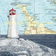 Art Card Bruce Peninsula Lighthouse