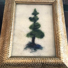 Felted Art Framed tree