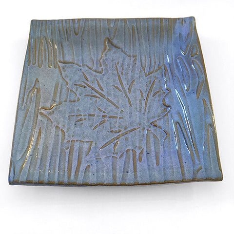 Small square maple leaf plate