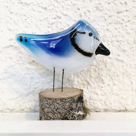 Fused glass chick