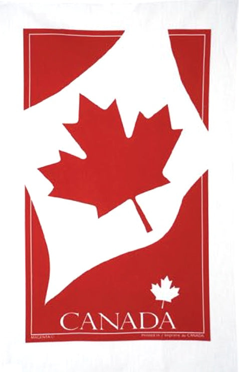 Cotton Tea Towel Maple Leaf Flag