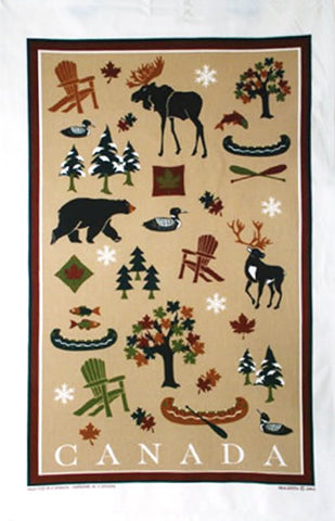 Cotton Tea towel Canadian Heritage
