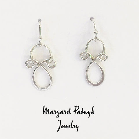 Earrings silver teardrops