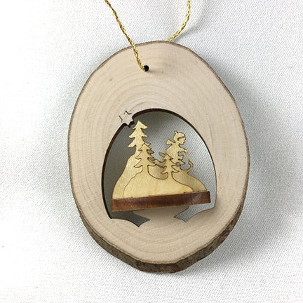 3D Locket Size Ornament Sledding