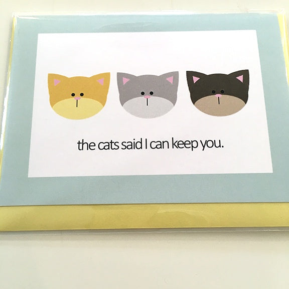Art Card Cats keep you