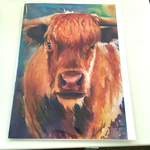Art Card, Brown Cow