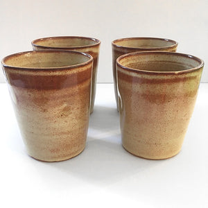 Reddish brown wine cups