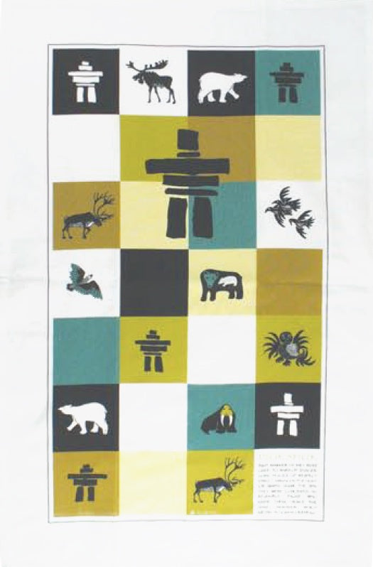 Cotton Tea towel Inukshuk