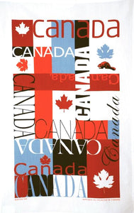 Cotton Tea Towel Canada Mosaic