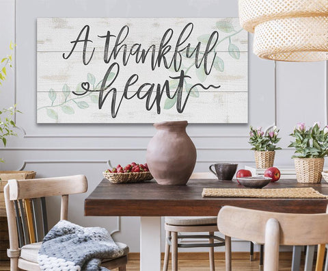 Image of A Thankful Heart - Canvas.
