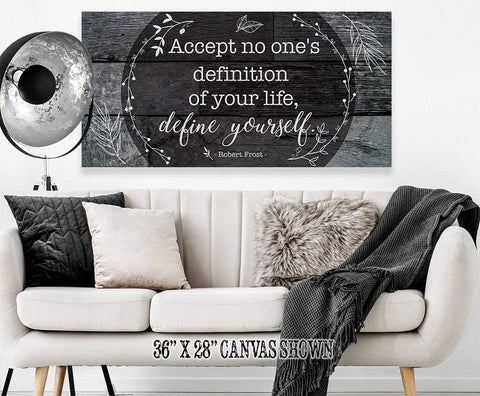 Image of Accept No One's Definition - Large Canvas (Not Printed on Wood) - Stretched on Wood - Wedding Gift Wall Hangings Lone Star Art