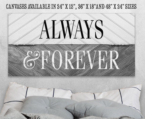 Image of Always and Forever - Canvas.