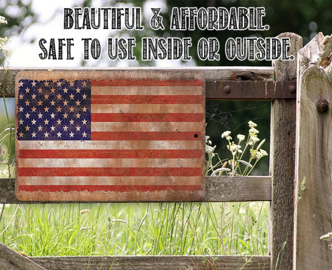 Image of American Flag - Metal Sign.