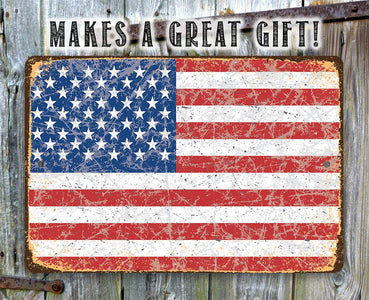 American Flag Grunge - Metal Sign.